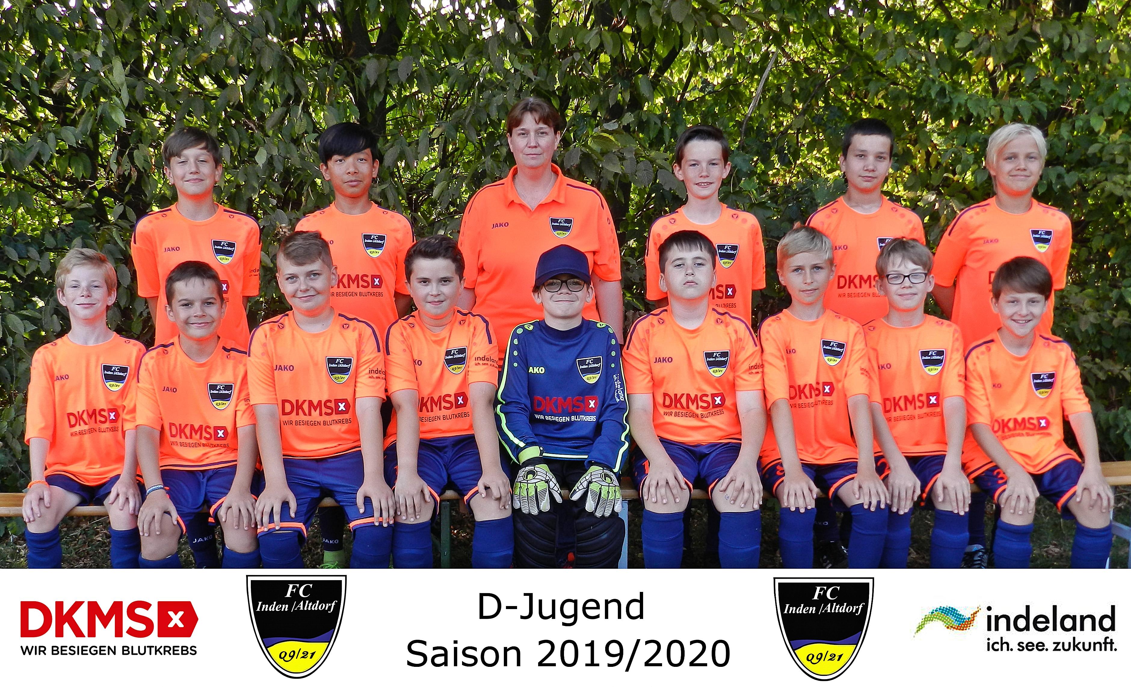 Mannschaftsfoto D-Junioren